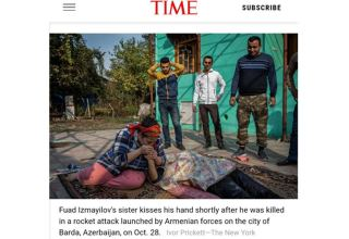 Photo of Armenia's missile attack on Barda in US Time Magazine's top 100 photos