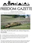 Freedom Gazette: World remained neutral in face of latest Armenian aggression - Gallery Thumbnail