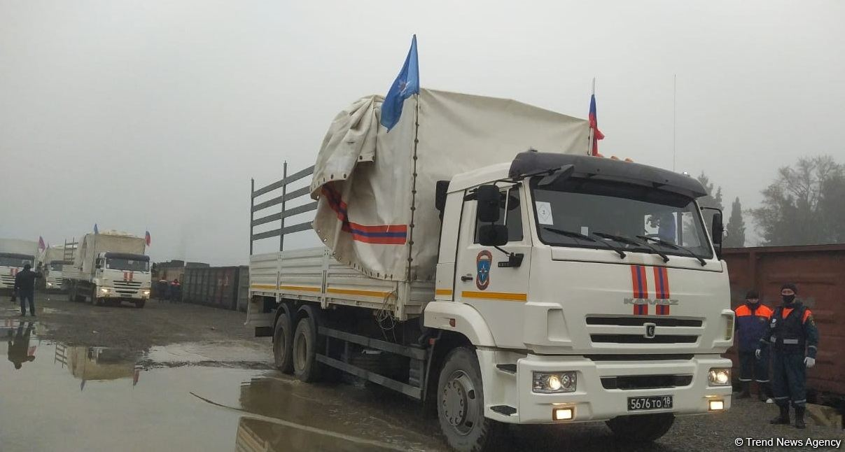 Russian humanitarian cargo delivered to Karabakh (PHOTOS)