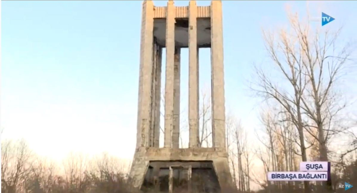 Azerbaijan shares footage of heavily damaged poet's mausoleum in liberated Shusha (VIDEO)