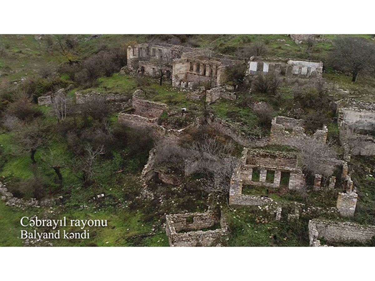 Azerbaijan shares video footage from Balyand village of Jabrayil district (VIDEO)