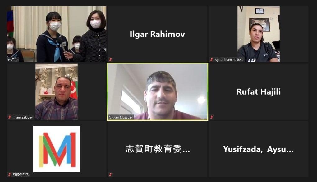 Азербайджанские спортсмены провели культурный обмен с японским городом Сика-мати (ФОТО) - Gallery Image