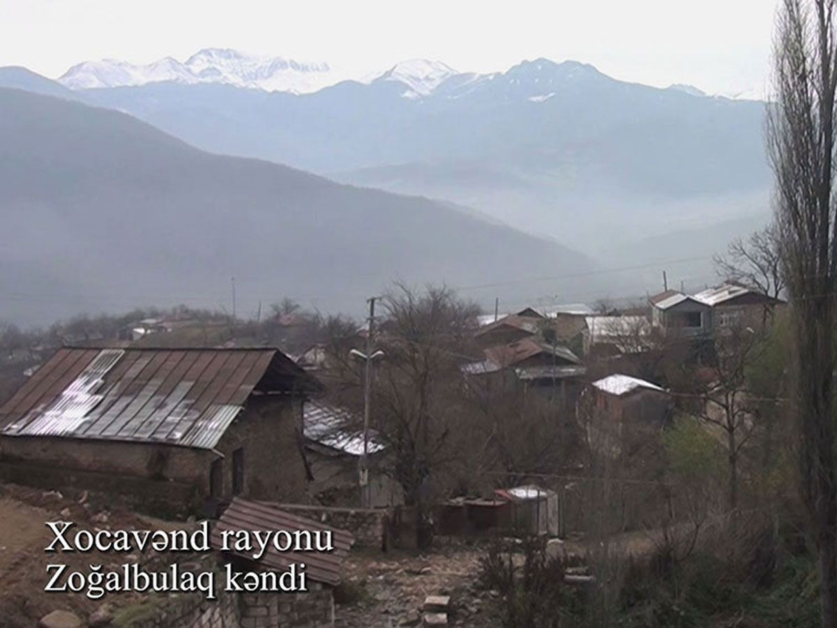 Azerbaijan shows footage from Zogalbulag village of Khojavend district (VIDEO)