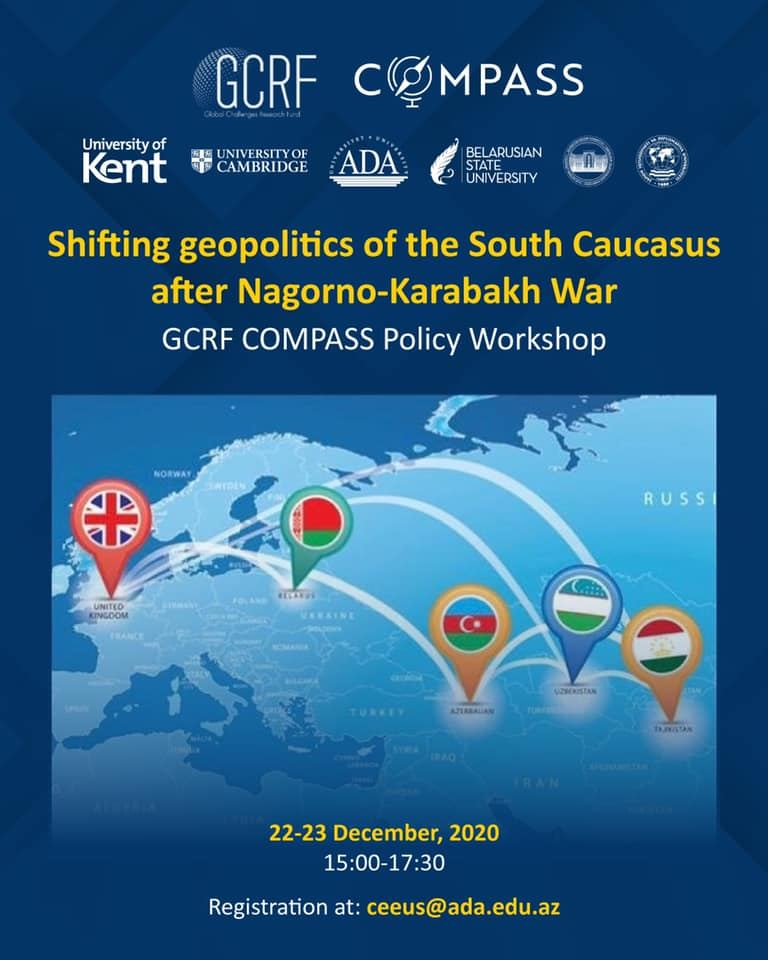 Center of Excellence in EU Studies of ADA University organized virtual workshop on Karabakh in frame of GCRF-COMPASS project (PHOTO) - Gallery Image