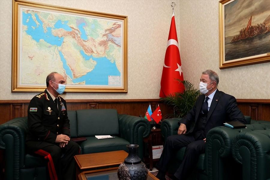 Azerbaijan's deputy defense minister meets with Turkish defense minister (PHOTO) - Gallery Image