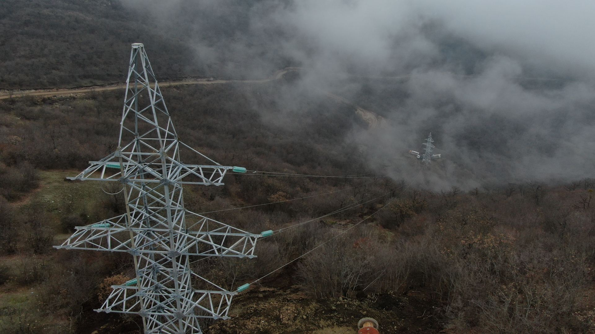 Azerbaijan's electricity supplier laying high-voltage line to liberated Shusha (VIDEO)