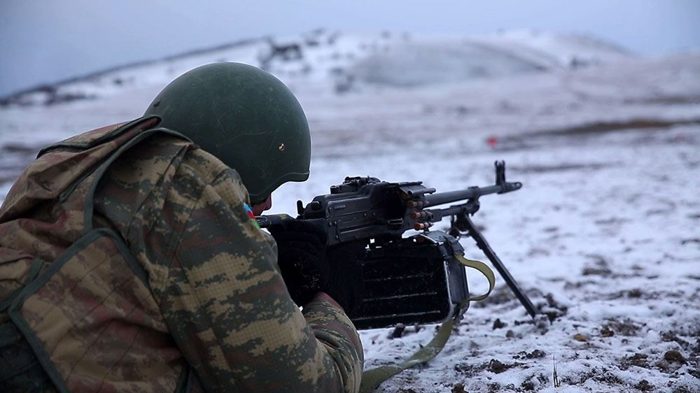 Azerbaijan Army Units carrying out combat training (PHOTO/VIDEO) - Gallery Image
