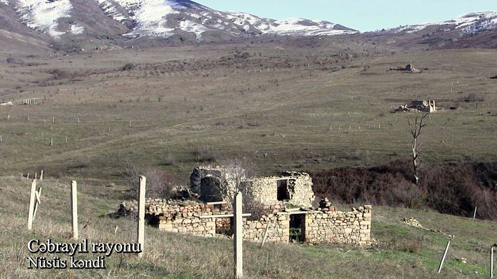 Azerbaijan shows footage from Nusus village of Jabrayil district (PHOTO/VIDEO)
