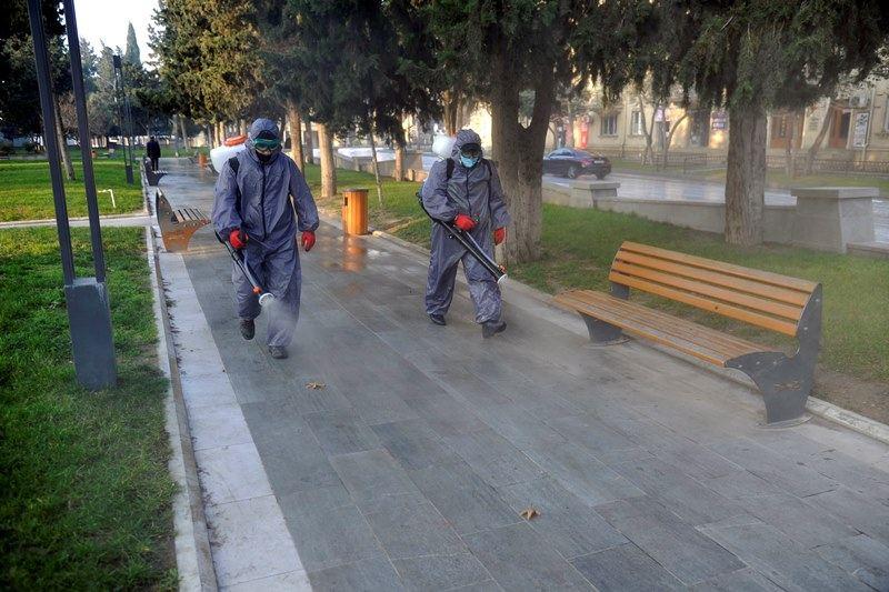 Paytaxtda 554 küçə dezinfeksiya edilib (FOTO)