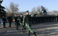 Azerbaijan hoists state flag at Bartaz outpost of Horadiz border detachment (PHOTO) - Gallery Thumbnail