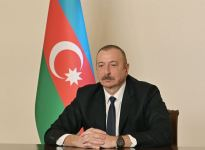 President Ilham Aliyev receives in video format Anar Karimov on his appointment as Minister of Culture (PHOTO) - Gallery Thumbnail