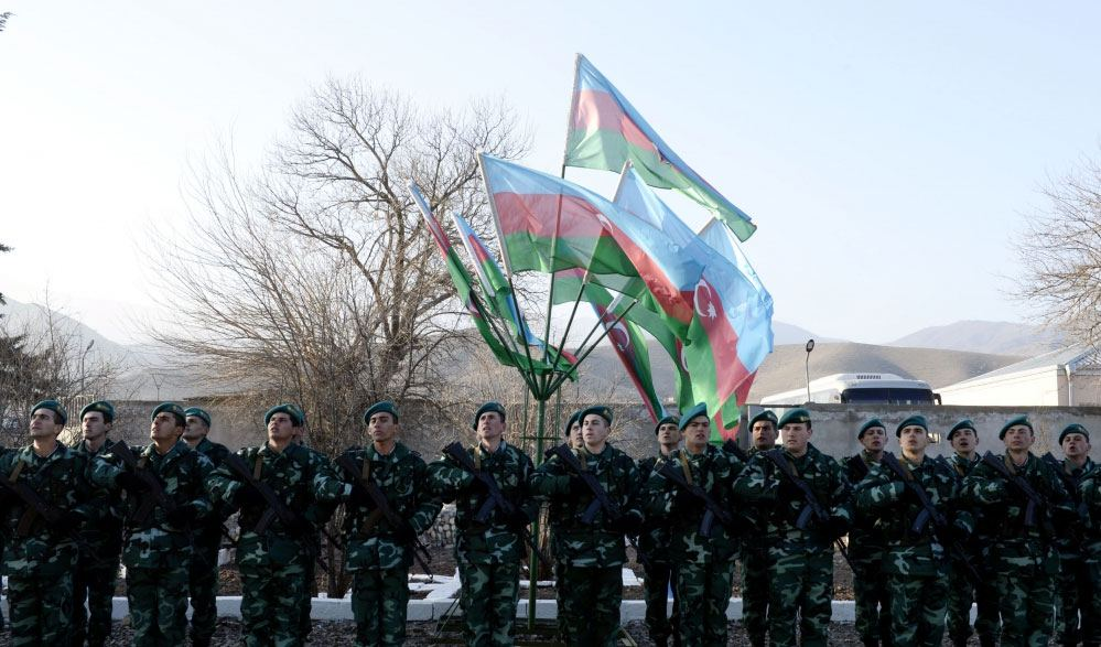 Azerbaijan hoists state flag at Bartaz outpost of Horadiz border detachment (PHOTO)