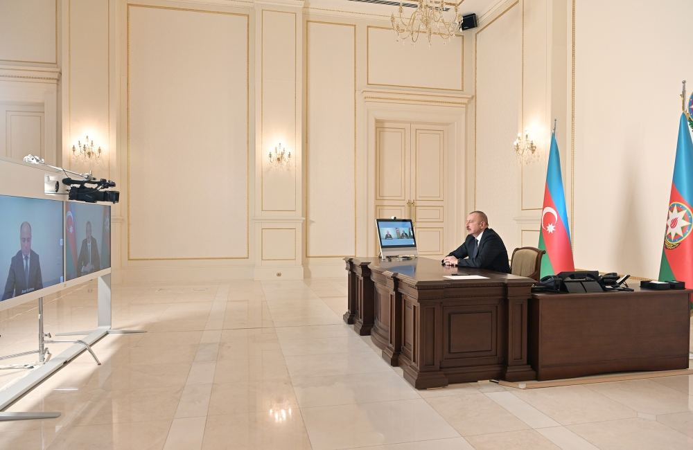President Ilham Aliyev receives in video format Anar Karimov on his appointment as Minister of Culture (PHOTO)