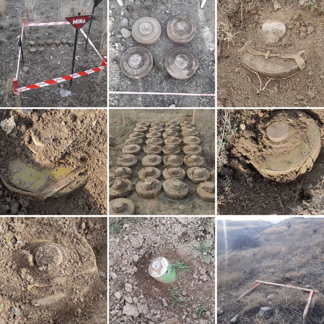Azerbaijan discloses number of anti-infantry mines found since Sept.2020 (PHOTO) - Gallery Image