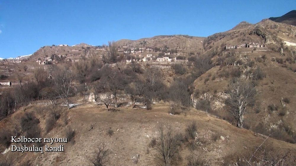 Azerbaijan shows video footage from Dashbulag village of Kalbajar district (VIDEO)