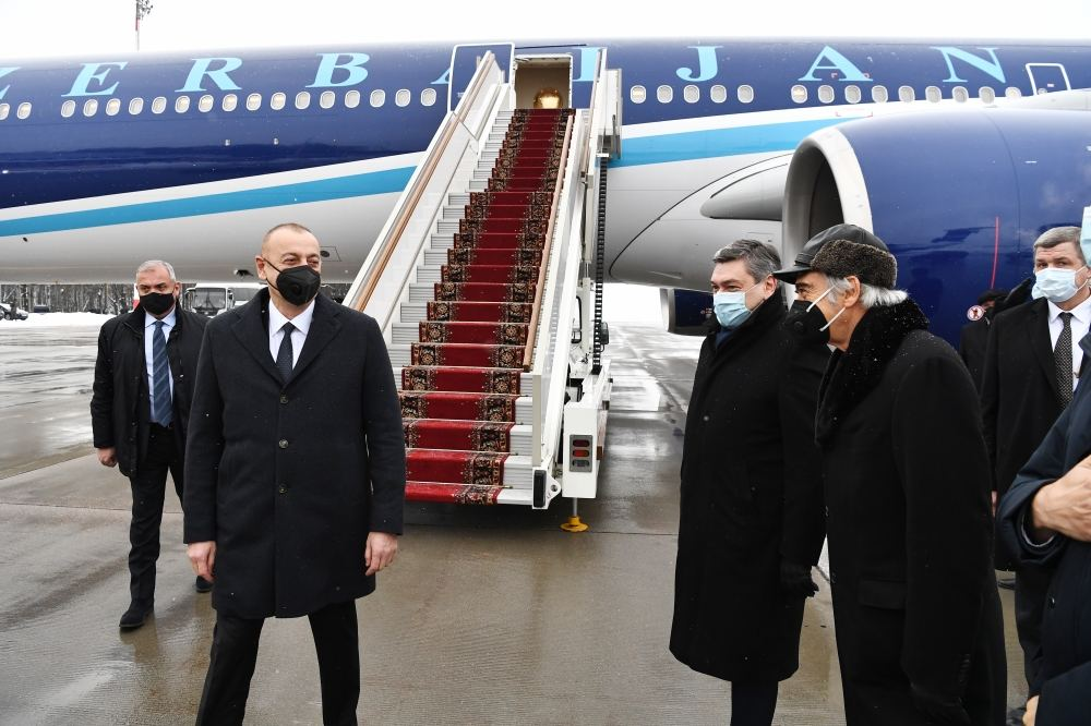 President Aliyev arrives in Moscow for working visit on invitation of President Putin (PHOTO) - Gallery Image