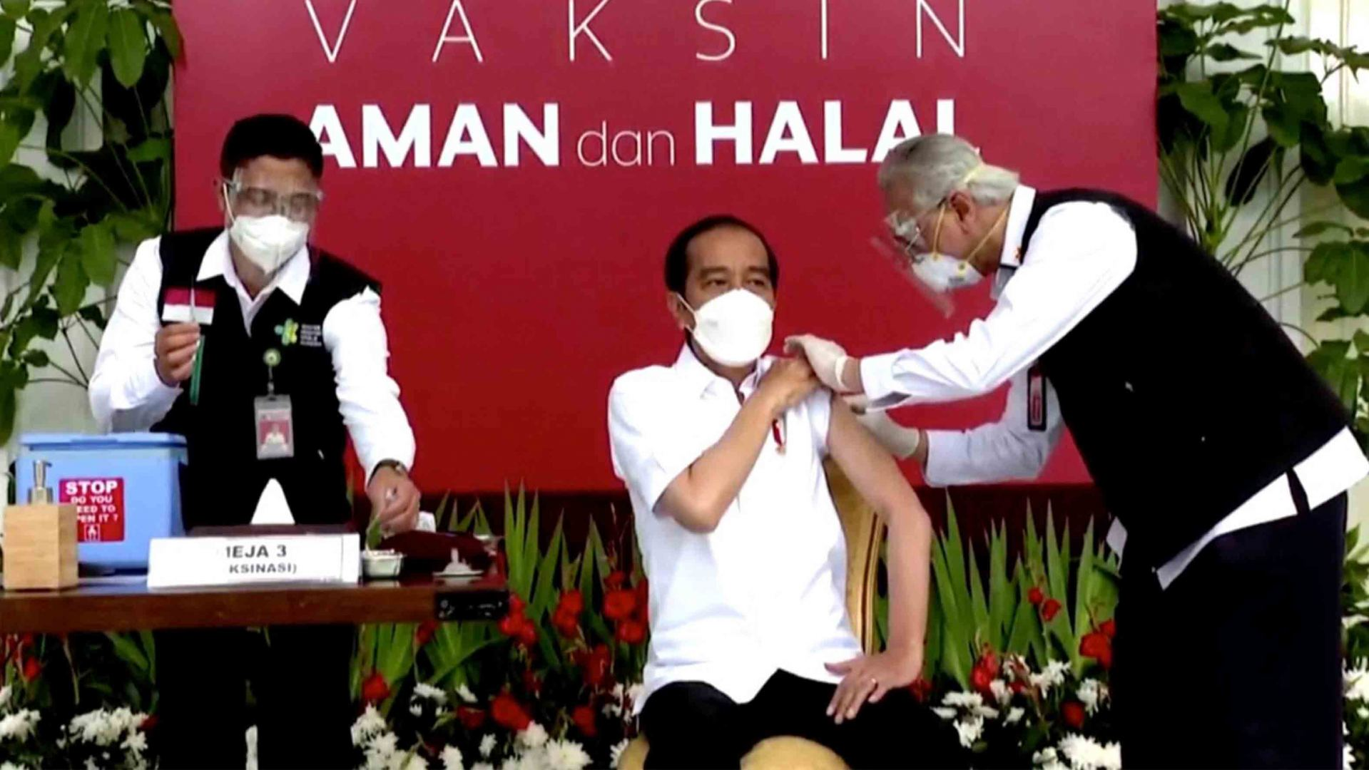 Indonesian president receives 1st Chinese COVID-19 vaccine shot