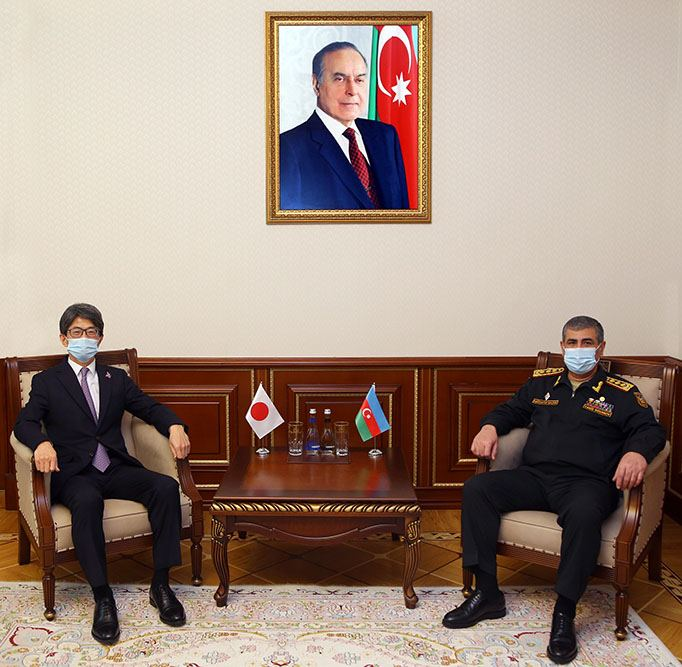 Azerbaijani minister, Japanese ambassador discuss issues of co-op in military sphere