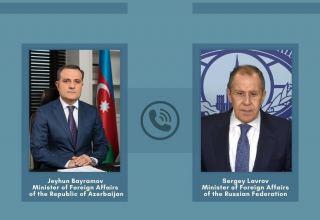 Azerbaijani, Russian FMs exchange views on tasks of Jan. 11 joint statement