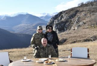 We are having tea in pear-shaped glasses, baklava on Jidir Duzu. Let our friends rejoice, enemies get blind! - President Aliyev (PHOTO/VIDEO)