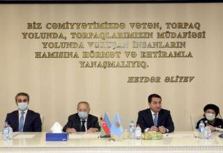 Помощник Президента Азербайджана Хикмет Гаджиев принял участие в заседании правления Организации ветеранов республики (ФОТО)