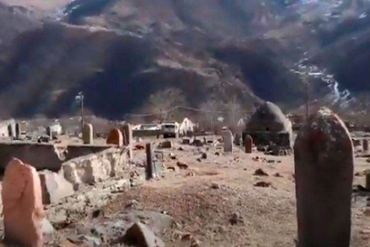 Call for prayer sounded for first time at cemetery in Azerbaijan's Kalbajar district previously occupied by Armenia (VIDEO)