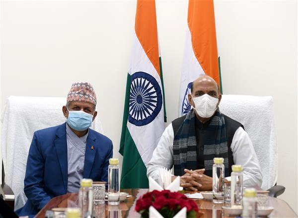 Rajnath Singh meets Nepal's Foreign Minister Pradeep Kumar Gyawali