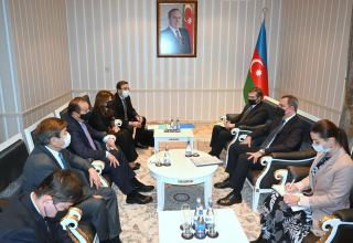 Azerbaijani Foreign Minister meets with delegation of the Turkic Council, TURKSOY and Turkic Culture and Heritage Foundation