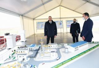 President Aliyev attends groundbreaking ceremony for two plants in Sumgayit Chemical Industry Park, inaugurates sheet glass factory (PHOTO)