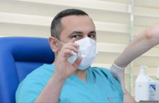 Azerbaijan's Health Minister, Head of TABIB vaccinated from COVID-19 (PHOTOS) - Gallery Thumbnail