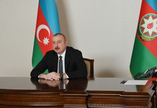 President Aliyev receives Secretary-General of Cooperation Council of Turkic-Speaking States in video format (PHOTO)