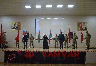 Azerbaijani troops hold several events in connection with January 20 tragedy (PHOTO/VIDEO)