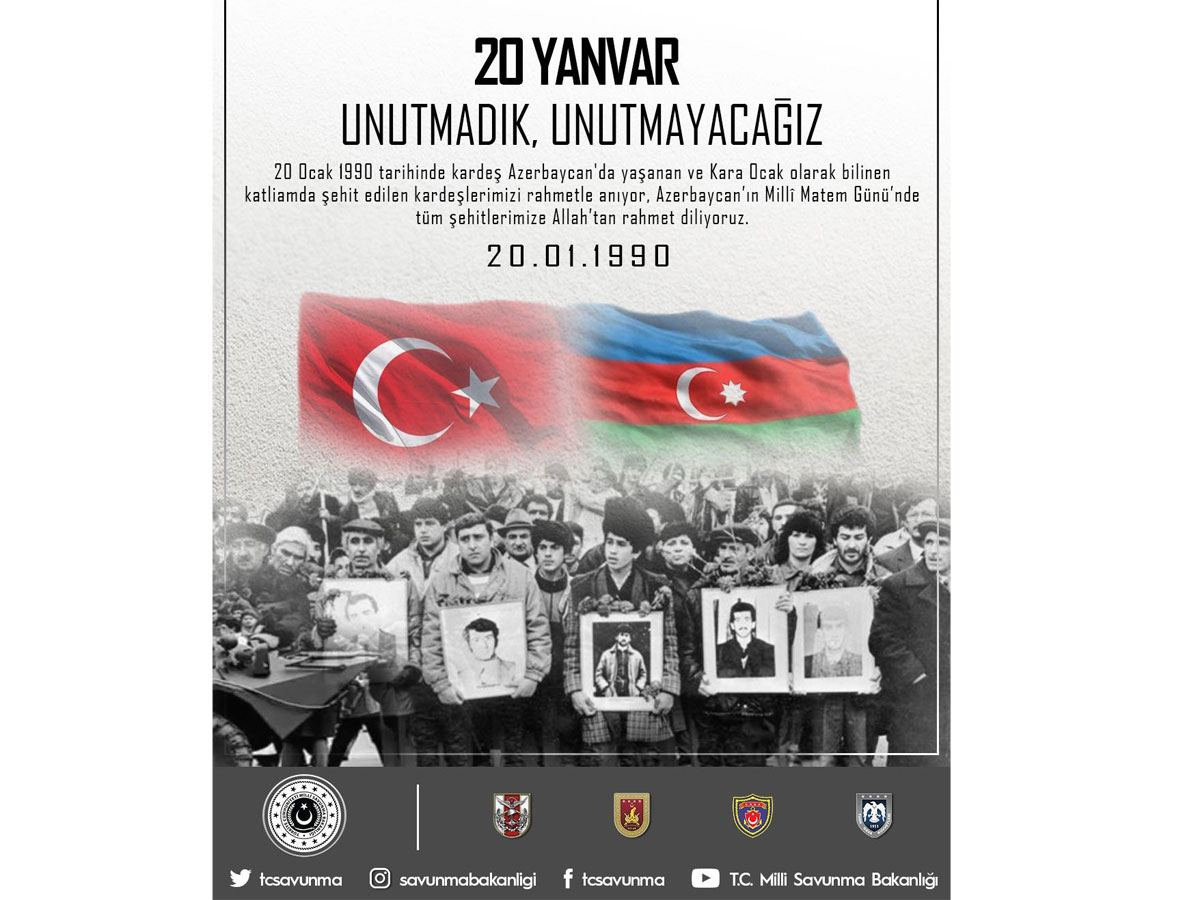 Turkish Ministry of National Defense talks January 20, 1990 tragedy in Baku - Gallery Image