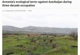 Azernews newspaper reports ecological terror committed by Armenia against Azerbaijan during 30 years of occupation