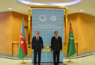 Azerbaijani, Turkmen FMs talk significance of joint collaboration on Caspian Sea (PHOTO)