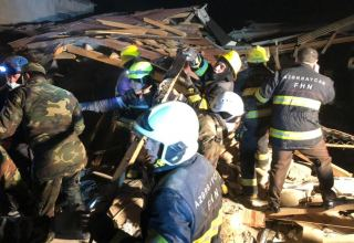Body of one person recovered from rubble of destroyed house in Azerbaijan's Khirdalan (PHOTO/VIDEO) (UPDATE)