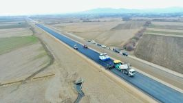 One of sections of Baku-Georgia highway improved (PHOTO) - Gallery Thumbnail