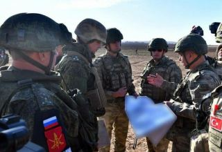 Russian servicemen preparing for work in joint Russian-Turkish observation center in Nagorno-Karabakh region