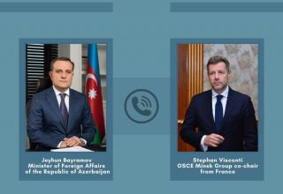 Azerbaijani FM, OSCE MG co-chair from France exchange views on situation in region