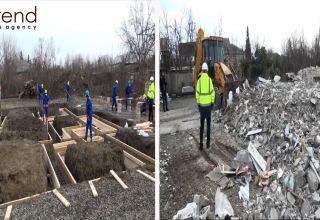 Началось восстановление домов, пострадавших в результате армянской агрессии - репортаж Trend TV из Барды и Тертера