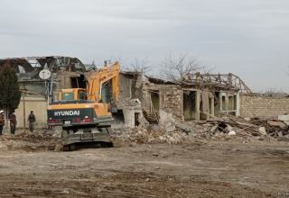 Azerbaijan restoring houses destroyed as a result of Armenia's aggression in Ganja (PHOTO)