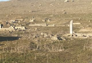 Footage of cemetery destroyed by the Armenians in Azerbaijani village of Saray, Gubadly region (PHOTO)
