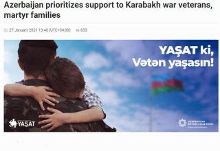 """Azərbaycan üçün müharibə veteranlarına, şəhid ailələrinə dəstək prioritetdir - """"Azernews"""" qəzeti"""