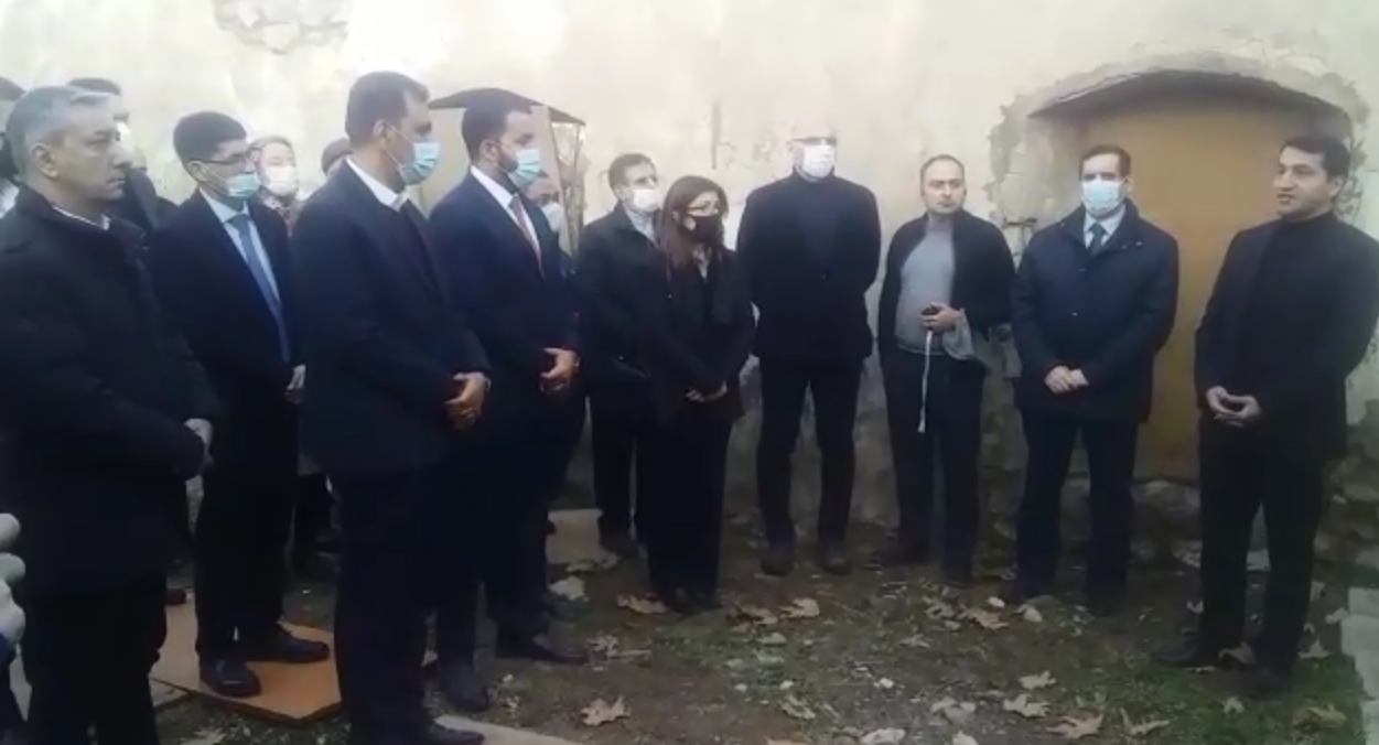 Diplomatic corps accredited in Azerbaijan visit Armenian-destroyed mosque in liberated Zangilan (VIDEO)