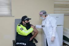 COVID-19 vaccination of police officers starts in Azerbaijan - Trend TV reports (PHOTO) - Gallery Thumbnail