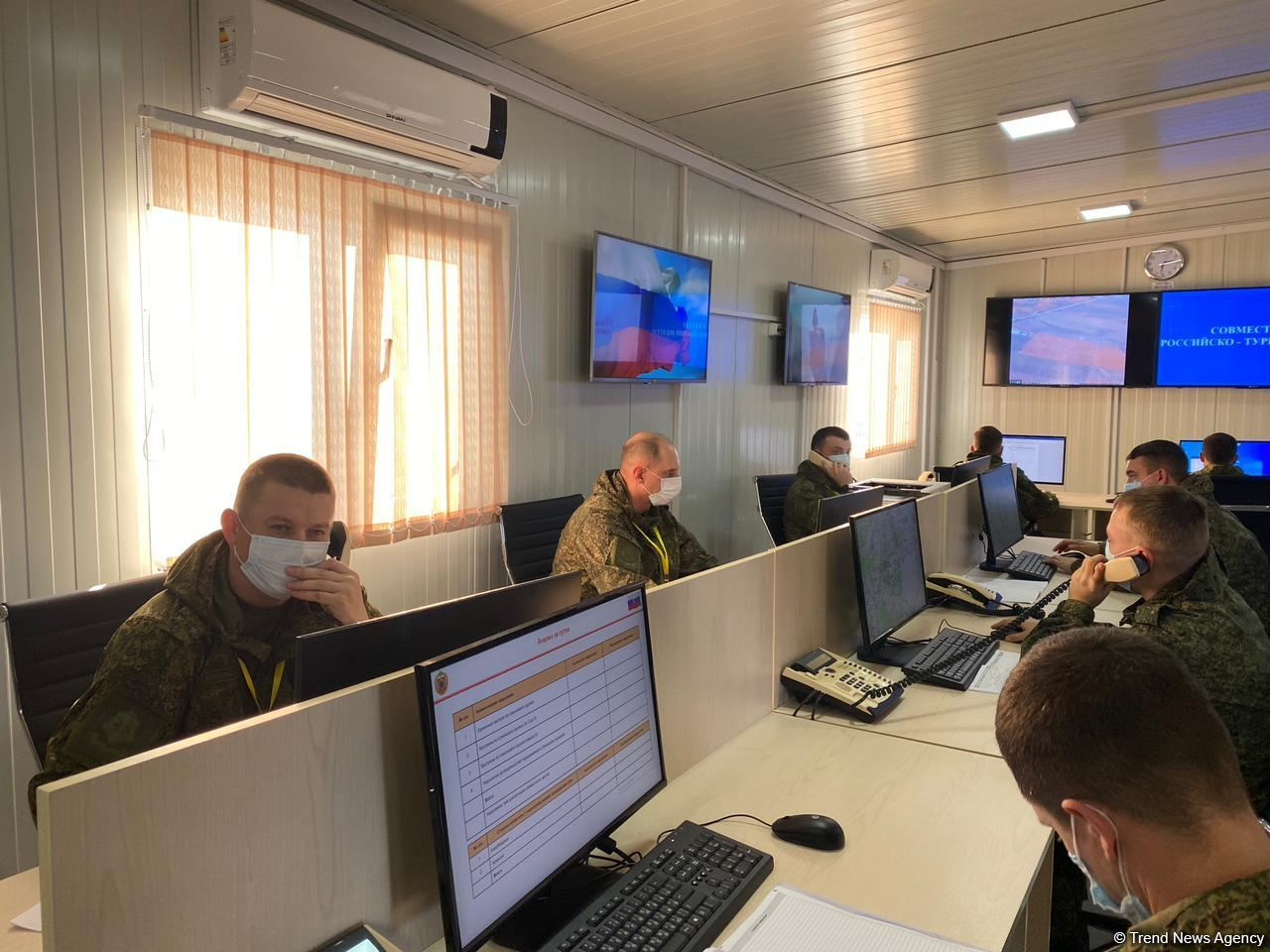 Azerbaijani, foreign journalists visit Turkish-Russian Monitoring Center in Aghdam (PHOTO/VIDEO) - Gallery Image