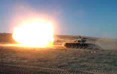 Azerbaijani tankmen hold first combat fires in new training year (PHOTO/VIDEO) - Gallery Thumbnail