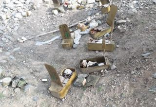 Azerbaijani police forces found ordnances left by Armenians in Aghdam (PHOTO)