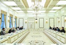 Milli Məclisin Sədri Sahibə Qafarova İran parlamentinin nümayəndə heyəti ilə görüşüb (FOTO) - Gallery Thumbnail