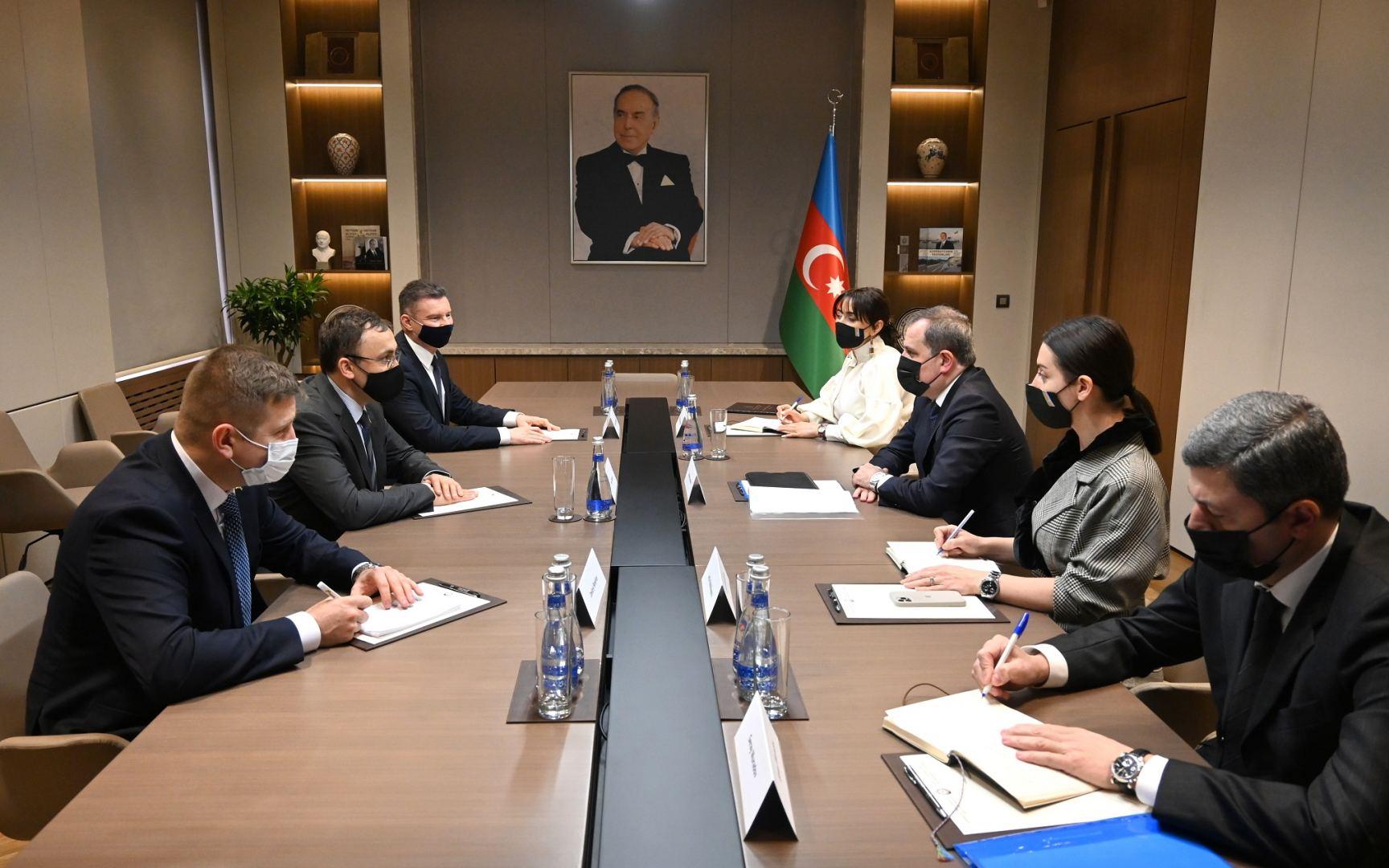 Министр иностранных дел Азербайджана встретился с замминистра МИД Украины (ФОТО)